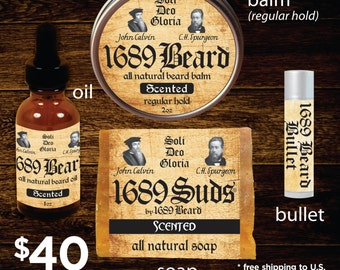 1689 Beard Bundle (FREE SHIPPING)- Regular Hold Balm