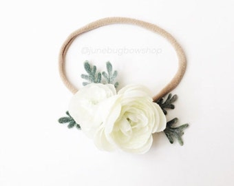 WHITE Petite flower crown, flower crown, floral crown, boho crown, flower headband, baby flower crown, newborn flower crown