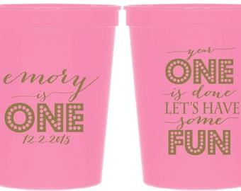 Customizable Birthday 16 oz. Plastic Stadium Cups