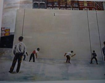 Vintage - Ben Shahn, Handball, 1939  - American realist - art lovers - color plate social realism gift framable