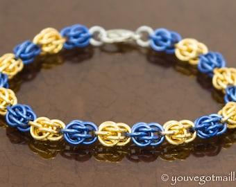 Custom Team Colors Chainmaille Bracelet