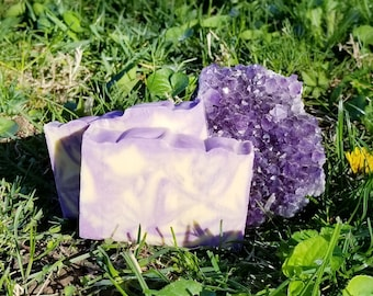 Amethyst Goats Milk Bar Soap