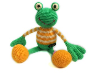 Crochet Frog, READY TO SHIP, Amigurumi Frog, Crochet Amigurumi, Soft Toy, Crochet Frog Plush, Crochet Plush Toy, Amigurumi Plush Toy Frog