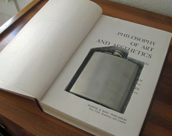 RESERVED FOR REALLYREALLYREMADE \/\/ hollow book flask safe ''PHILOSOPHY OF ART AND AESTHETICS''