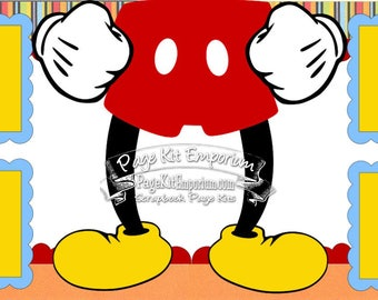 Scrapbook Page Kit Layout Disney Summer Vacation Mickey Boy Girl 2 page Scrapbook Layout Kit 2