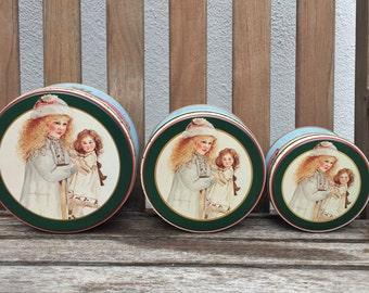 Vintage Nested Tins Set 3