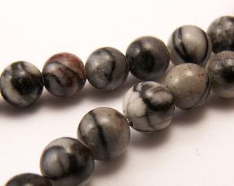 Silk Stone Round Beads 4mm - Half Strand