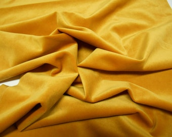 Brunschwig & Fils-GDT5034-012 Villamayor-pc w26 inches x 57 inches-L-Velvet- Upholstery Fabric -Mustard-Luxury Fabric-Remnant Fabric -