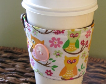 Owls Sleeve Coffee Cup Cozy