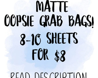 MATTE Oopsie Grab Bags   for use with Erin Condren Lifeplanner™, Filofax, Personal, A5, Happy Planner