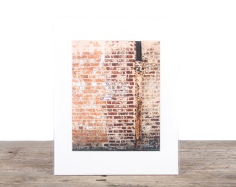 Original Fine Art Photography / Unique Photography / Rustic Red Brick Wall Decor / Signed Photograph / Photography Prints /Color Photography