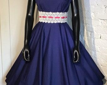Original Vintage 1950s 1960s Cotton Summer Dress by California