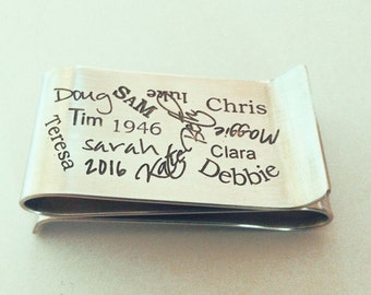 Graffiti Style Sterling Double-Sided Money Clip by donnaodesigns