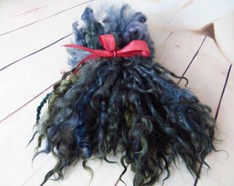 Teeswater Curls Teeswater Locks Spinning Doll Hair Felting Wool Longwool Locks Teeswater locks Doll locks Doll Hair teeswater  50/100 gr