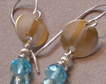 Vintage Glass Earrings in  Aquamarine