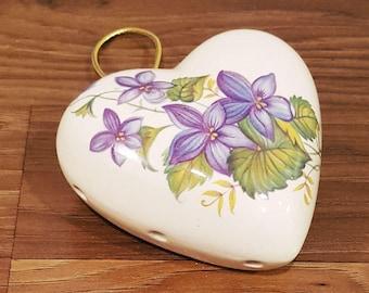 Vintage Heart-Shaped Pomander, Lownds Pateman, Made in UK