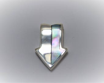 Sterling silver arrowhead with gemstone Pendant
