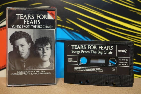 Songs From The Big Chair (RARE Canadian Pressing) by Tears For Fears Vintage Cassette Tape