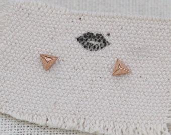 tiny triangle earrings, triangle earring stud, triangle earrings gold, simple triangle earrings, triangle stud earrings