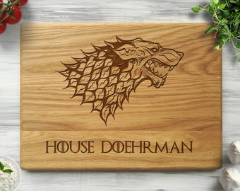 Personalized Cutting Board Game of Thrones Gift Custom Chopping Board Engagement Gift for Couple Wedding Gift for Him and Her Kitchen Decor