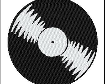 Music Record Musician Embroidery Design
