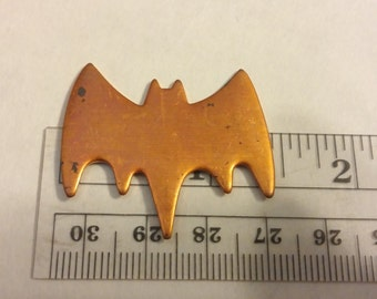 Bat shaped Copper blank or stamping for enamel or jewelry ONE