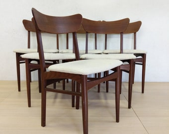 Set of 6 Vintage Danish Modern Dining Chairs - Free NYC Delivery!