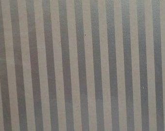Vintage 1960s Gift Wrap Silver Stripe Wrapping Paper All Occasion, Silver Anniversary, Wedding - 2 Sheets NIP