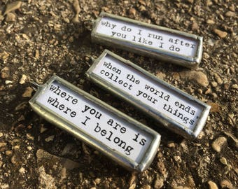 DMB Song Lyrics Soldered Charms