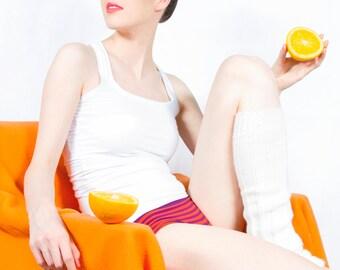Organic cotton boyshorts panties - Choose the color/print