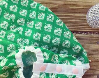 Toddler girls green boho overall romper
