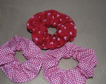 3 valentines Hair scrunches