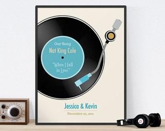 Personalized Wedding Gift, Printable Wedding, Anniversary Gift, Paper Anniversary, 1st Anniversary