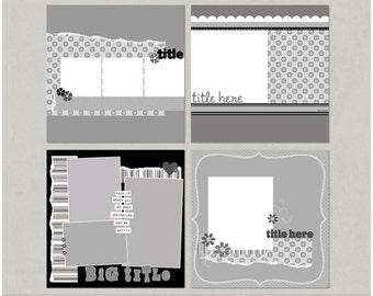 Patti'licious 12x12 Digital Scrapbooking Templates