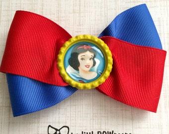 Snow White Bottle Cap Hair Bow