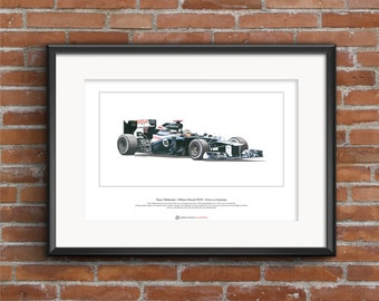 Pastor Maldonado - Williams FW34 Limited Edition Fine Art Print A3 size