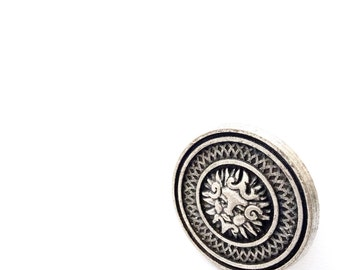 Mayan Sun Ring in Antique Silver Metal. Fast Shipping with Tracking for US Buyer. Gift Box Included.
