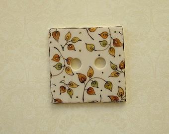 Gold Leaf Square Button