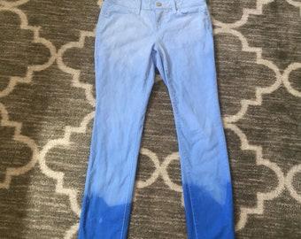 Blue ombré jeans