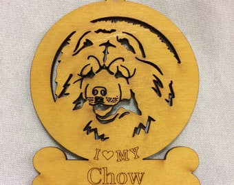 Chow Wood Ornament