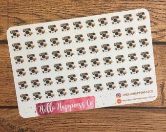 Small Kawaii Insta Camera Stickers - Social Media Stickers - Planner Stickers - Functional Stickers