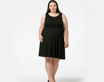 Black Cotton Jersey & Purple Cotton Jersey Circle Dresses for Bella