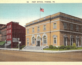Tyrone, Pennsylvania, Post Office - Postcard - Vintage Postcard - Unused (TTT)