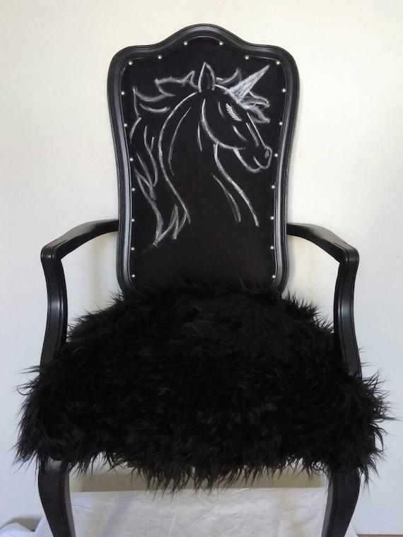 Gothic Unicorn Accent Chair