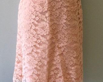 Vintage Mod 1960's Peach Lace Dress