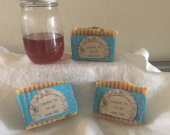 Grapefruit, Tea Tree and Honey Soap - Cold Processed Soap