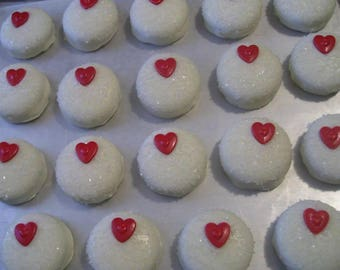Chocolate covered Oreos or Oreo Pops Red Heart Valentine's Day Chocolate covered Oreo with Crystals 1 dozen