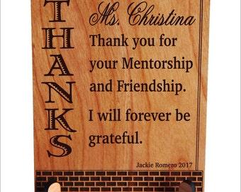 Teacher Appreciation Gift - Gift for Mentor Teacher from Student - College Teacher Gift Personalized, PLT022