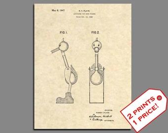 Toy Poster Art - Drinking Bird Toy Patent Art - Patent Prints Wall Art - Classic Toy Art Patent Print Patent Poster - Toy Art Poster 20