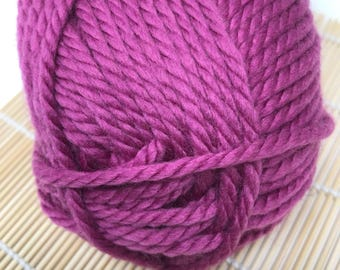 Pink Bulky Yarn - Cascade Yarn Pacific Bulky #114 Red Violet